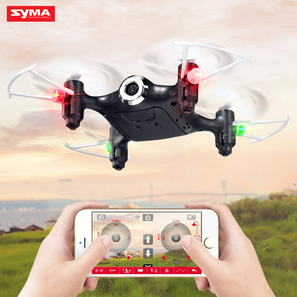SYMA X21W RC Drone Wi-fi Camera FPV Mini Dron Quadcopter 2.4GHz 4CH RC Helicopter Pocket Drones For Children Gift Toy
