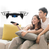 Drone 0.3MP Wifi RC Drone 4CH G-Sensor Wide Angle Lens Altitude Hold Headless Mode Foldable Quadcopter with LED