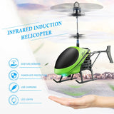 Infrared Induction RC Helicopter Aircraft Flying Toys with Remote Control Mini Drone Float Toys For Kids Boys TSLM2