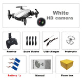 Teeggi T10 Mini Pocket Selfie Drone with HD Camera WiFi FPV Quadcopter Foldable  RC Dron Altitude Hold Headless Mode VS S9 Micro