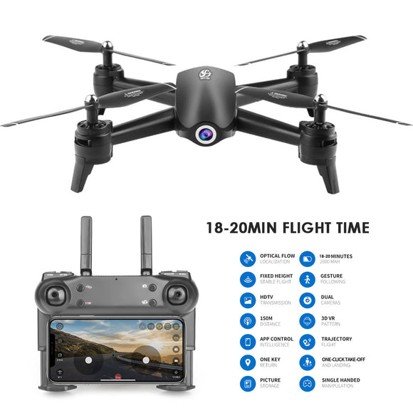 S165 RC Drone 2.4Ghz WIFI FPV 720P/1080P/2K HD Dual Camera 20 Minutes Flight time Headless Mode RC Helicopter Quadcopter
