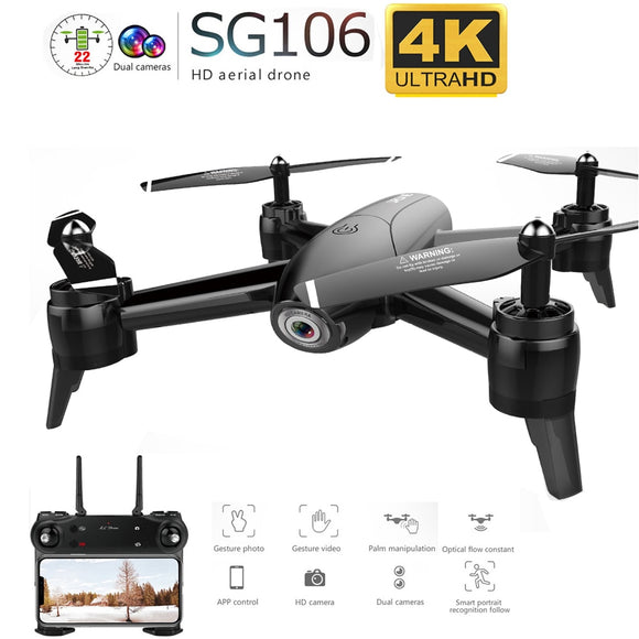 SG106 WiFi FPV RC Drone 4K Camera Optical Flow 1080P HD Dual Camera Aerial Video RC Quadcopter Quadrocopter Drone VS F11 XS816
