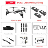 SG106 WiFi FPV RC Drone with 720P or 1080P or 4K HD Dual  Camera Optical Flow  Aerial Video RC Quadcopter for Toys Kid RC Dron