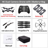 WiFi FPV RC Drone 4K Camera Optical Flow 720P Dual Camera RC Quadcopter Foldable Selfie Dron Visuo XS816 VS XS809S XS809HW SG106