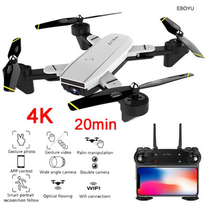 EBOYU SG700D RC Drone 4K/1080P Wide Angle WiFi FPV Camera Optical Flow Positioning Altitude Hold Gesture Control RC Quadcopter