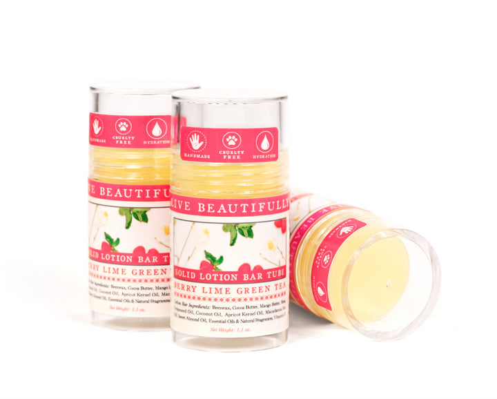 Berry Lime Green Tea Solid Lotion Bar
