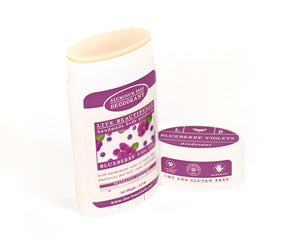 Blueberry Violets Full Size Deodorant Aluminum Free Open
