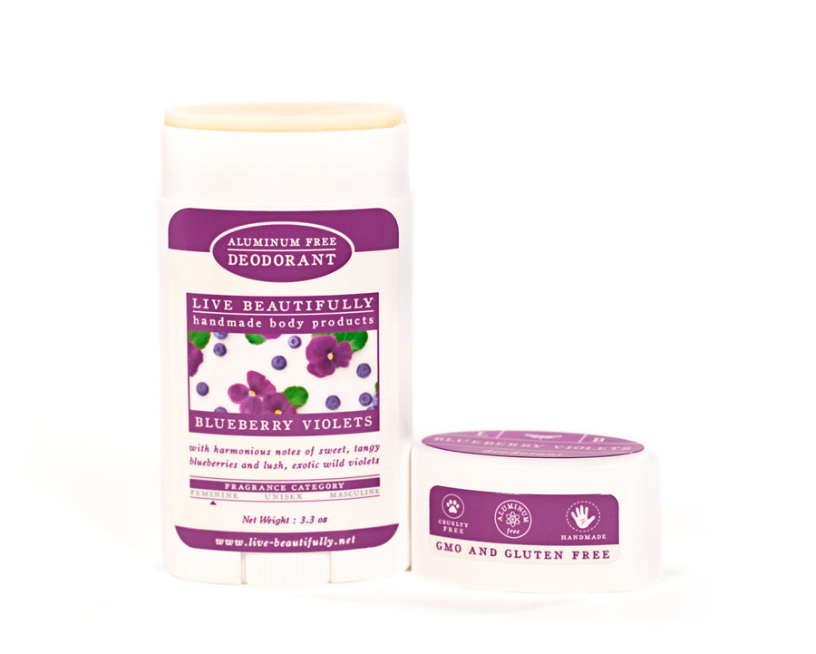 Blueberry Violets Full Size Deodorant Aluminum Free