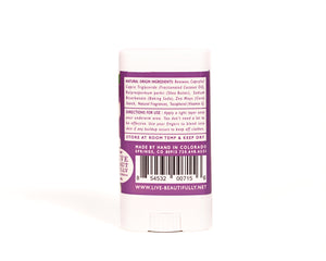 Blueberry Violets Travel Size Deodorant Aluminum Free Natural Origin Ingredients