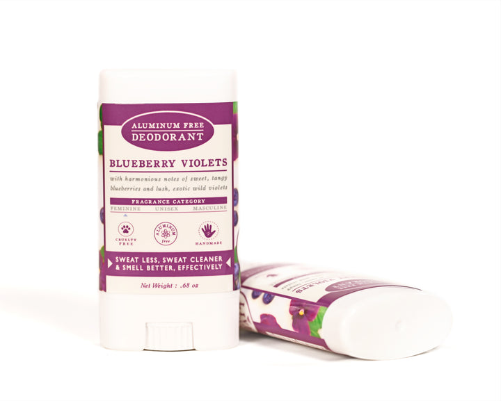 Blueberry Violets Travel Size Deodorant Aluminum Free
