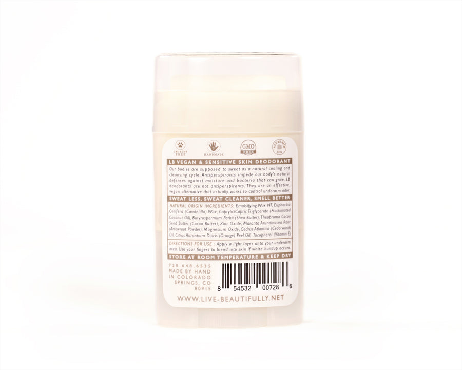 Cedarwood And Orange Natural Origin Deodorant Vegan Aluminum Free Ingredients