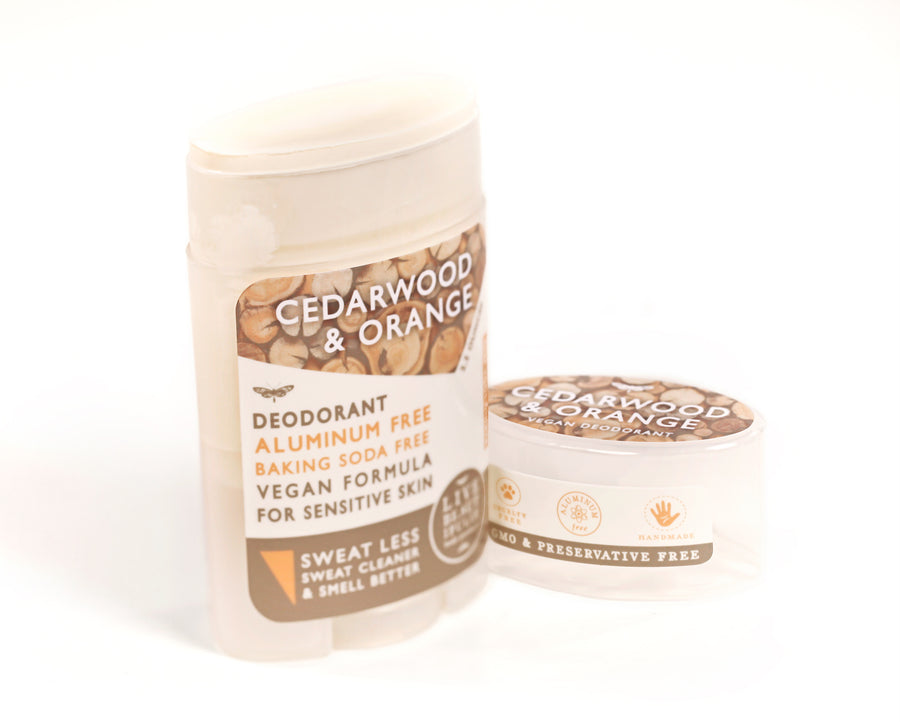 Cedarwood And Orange Natural Origin Deodorant Vegan Aluminum Free Open