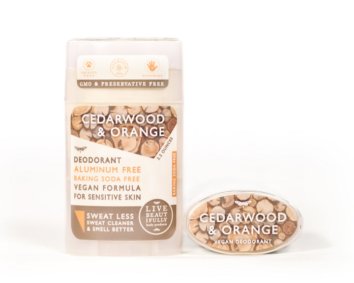 Cedarwood And Orange Natural Origin Deodorant Vegan Aluminum Free Sensitive Skin