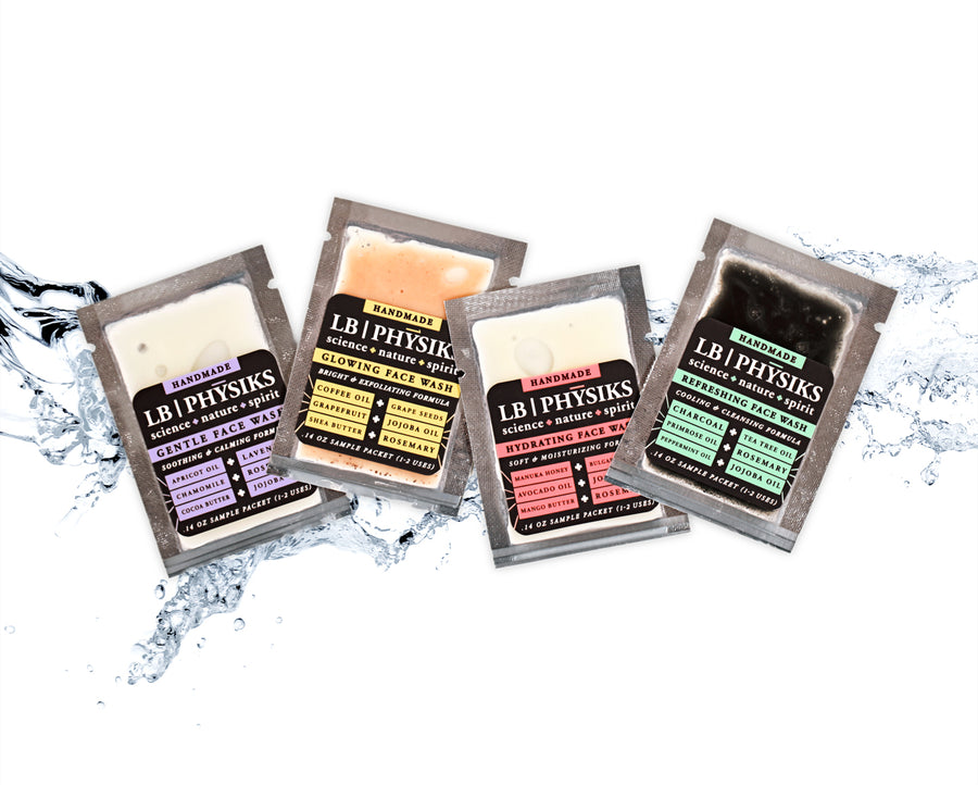 Cleansing Face Wash All Natural Soap Sample Variety