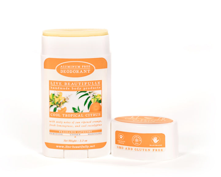 Cool Tropical Citrus Full Size Deodorant Aluminum Free
