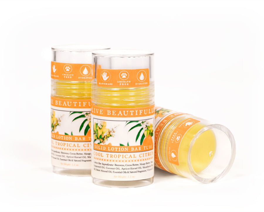 Cool Tropical Citrus Solid Lotion Bar