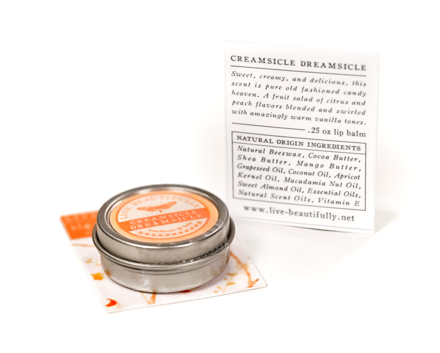 Creamsicle Vanilla Orange Lip Care Natural Origin Ingredients