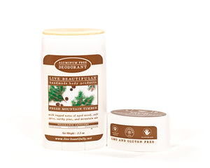 Fresh Mountain Timber Full Size Deodorant Aluminum Free