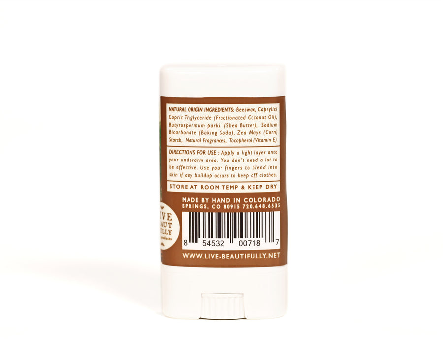 Fresh Mountain Timber Travel Size Deodorant Aluminum Free Natural Origin Ingredients