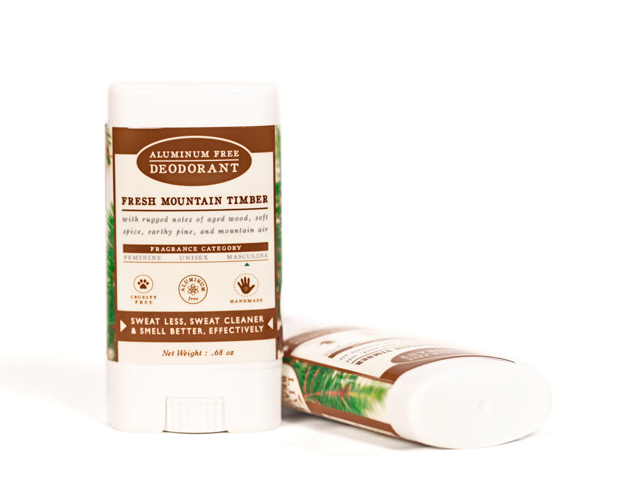 Fresh Mountain Timber Travel Size Deodorant Aluminum Free