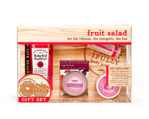 Fruit Salad Gift Set Ruby Red Grapefruit Strawberry Orange sweet cream berries raspberry lip butter