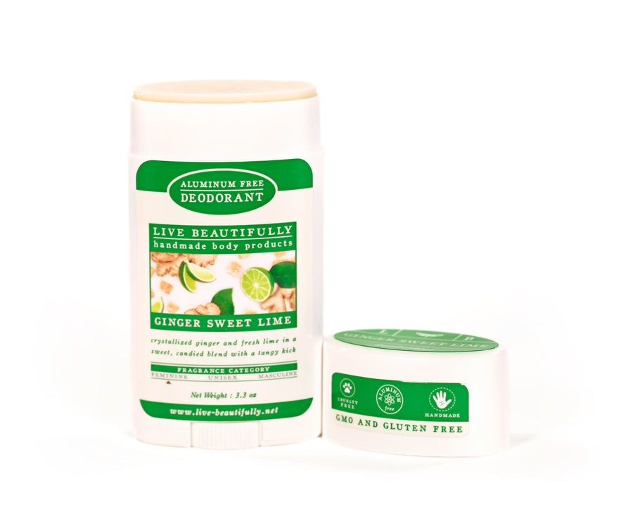 Ginger Sweet Lime Full Size Deodorant Aluminum Free Smooth Formula