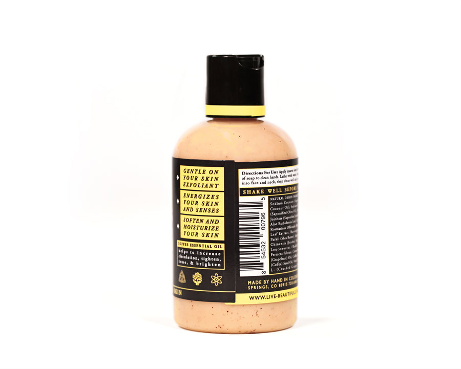 Glowing Face Wash Natural Origin Exfoliating Soap Ingredients