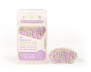 Lavender And Litsea Natural Origin Deodorant Vegan Aluminum Free Sensitive Skin