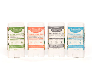 travel size all natural origin ingredient deodorants