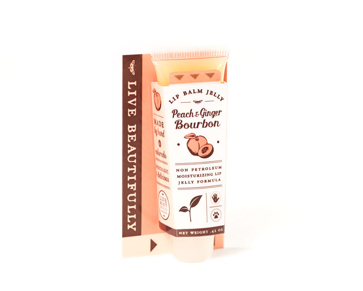 Peach Ginger Bourbon Lip Balm Jelly