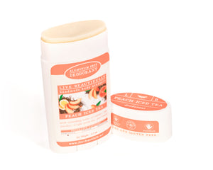 Peach Iced Tea Full Size Deodorant Aluminum Free Open
