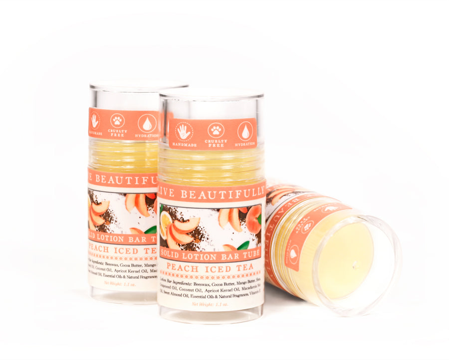 Peach Iced Tea Solid Lotion Bar