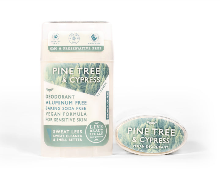 Pine Tree And Cypress Natural Origin Deodorant Vegan Aluminum Free Sensitive Skin