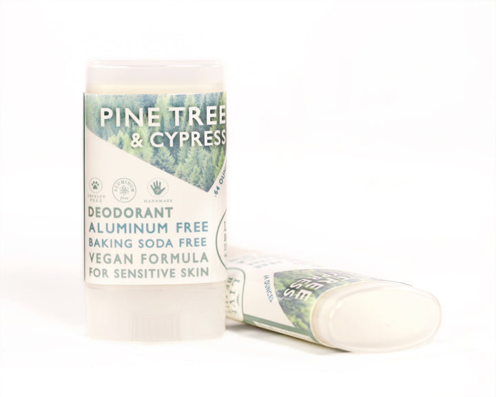 Pine Tree And Cypress Travel Size Deodorant Vegan Aluminum Free Sensitive Skin