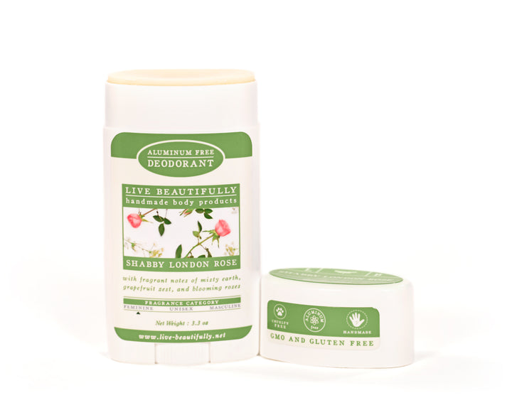 Shabby London Rose Full Size Deodorant Aluminum Free