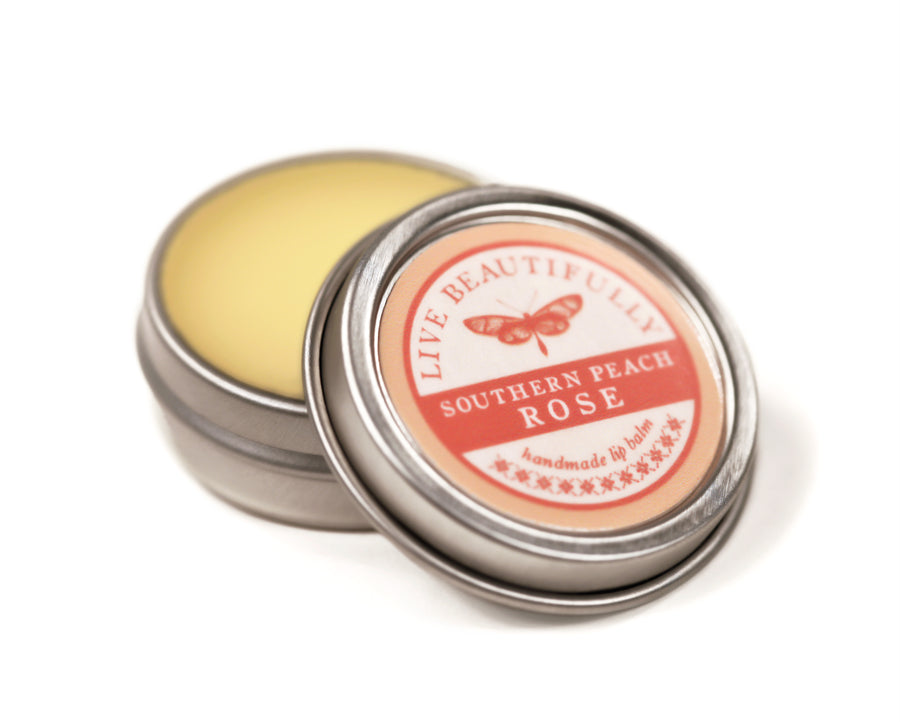 Southern Peach Rose Hydrating Dry Lip Balm