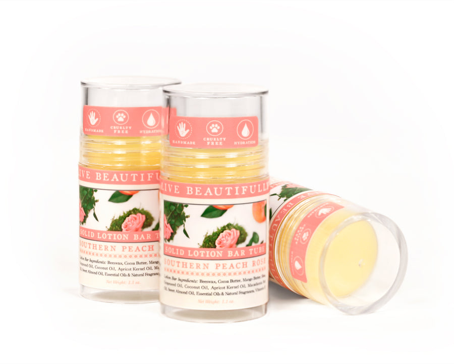 Southern Peach Rose Solid Lotion Bar