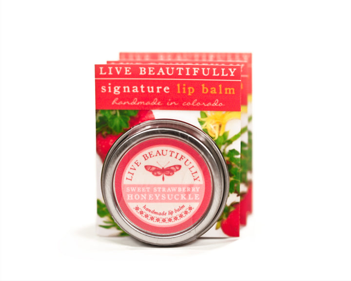 Strawberry Honeysuckle Lip Balm Tin