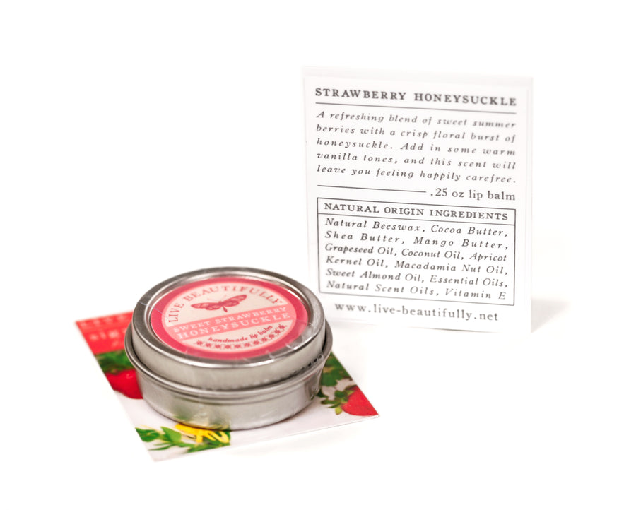Strawberry Honeysuckle Lip Care Natural Origin Ingredients