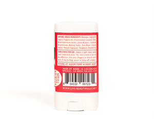 Strawberry Honeysuckle Travel Size Deodorant Aluminum Free Natural Origin Ingredients