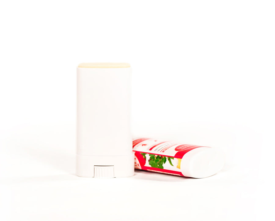 Strawberry Honeysuckle Travel Size Deodorant Natural Aluminum Free Open