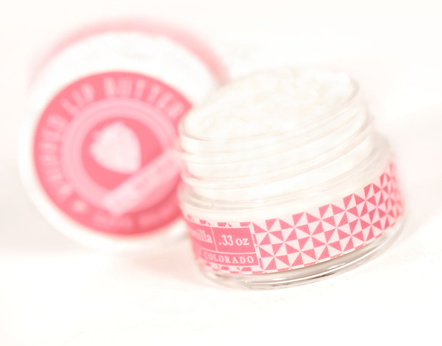Strawberry Vanilla Natural Whipped Lip Butter Dry Lip Care