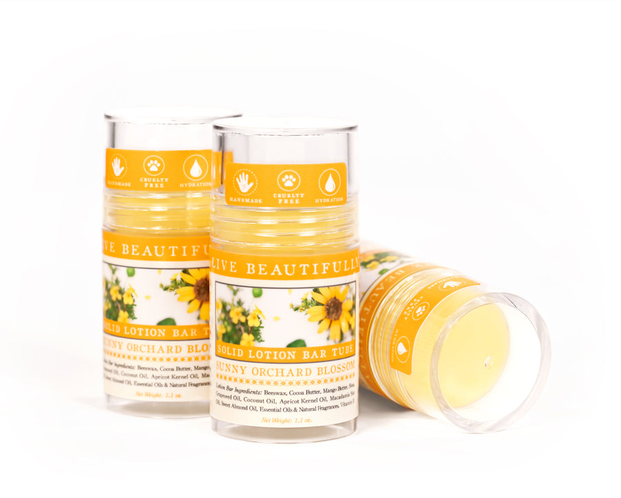 Sunny Orchard Blossom Solid Lotion Bar