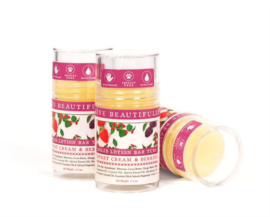 Sweet Cream Berries Solid Lotion Bar
