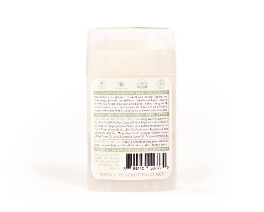 Ylang Ylang And Lime Natural Origin Deodorant Vegan Aluminum Free Sensitive Skin Ingredients