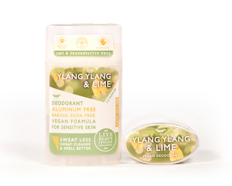 Ylang Ylang And Lime Natural Origin Deodorant Vegan Aluminum Free Sensitive Skin