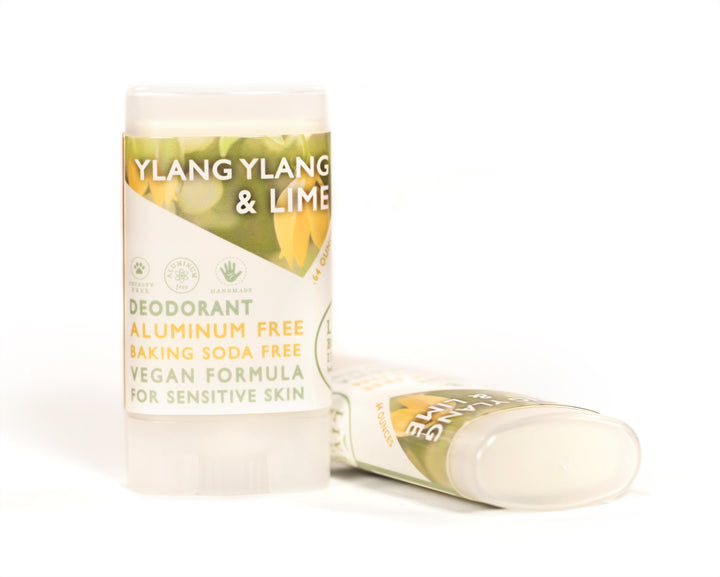 Ylang Ylang And Lime Travel Size Deodorant Vegan Aluminum Free Sensitive Skin