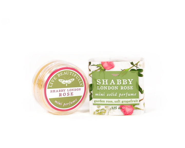 shabby London rose mini solid perfume cologne