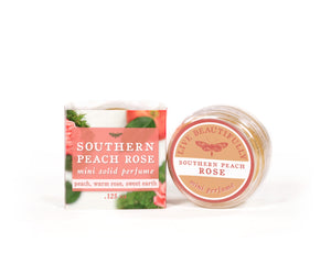 southern peach rose mini solid perfume cologne