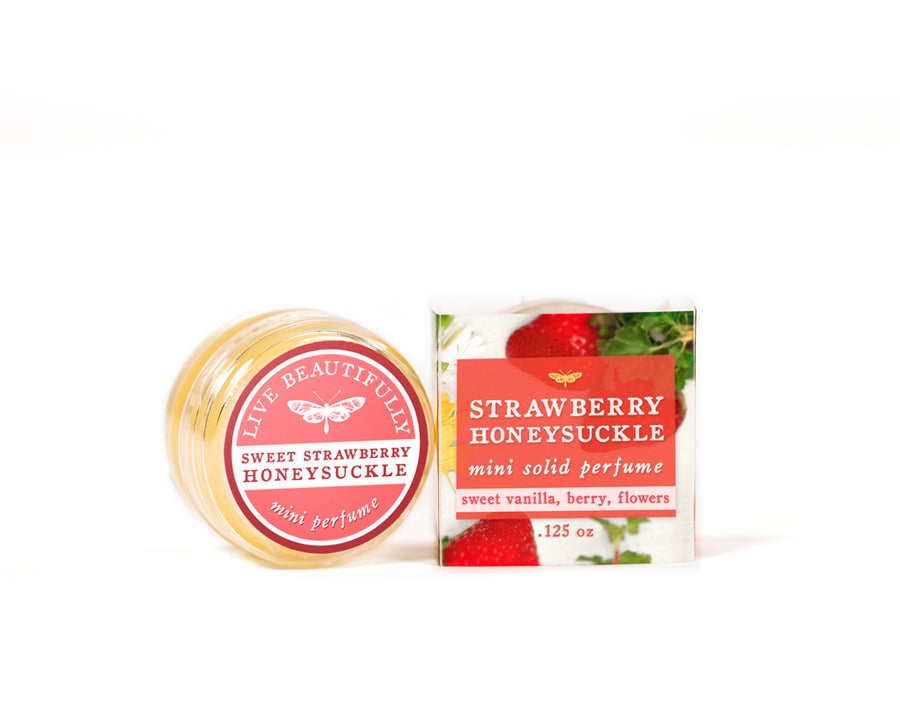 sweet strawberry honeysuckle mini solid perfume cologne